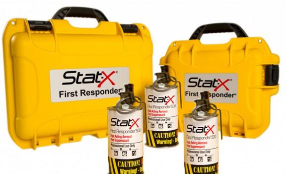 3 unités Stat-X First Responder avec boitier de transport de couleur jaune
